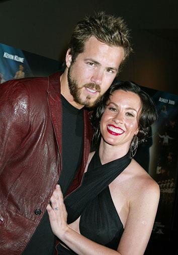 Ryan Reynolds and Alanis Morisette were engaged before breaking up in 2007.