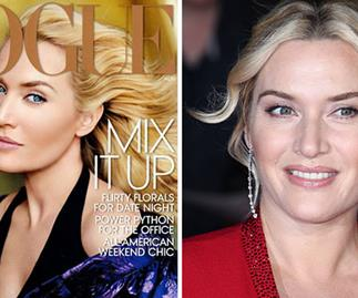 Kate Winslet overly airbrushed on Vogue cover