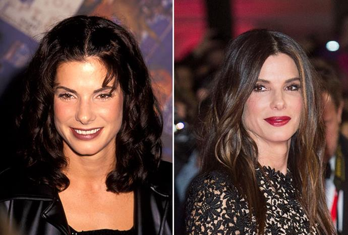 Sandra Bullock in 1994, and this week.