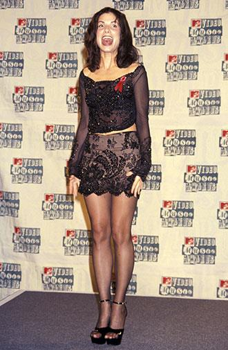 Her love of mini skirts was evident even in 1994.