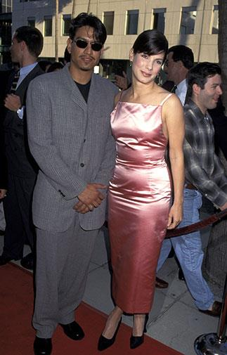 At the premiere of The Net in 1995.