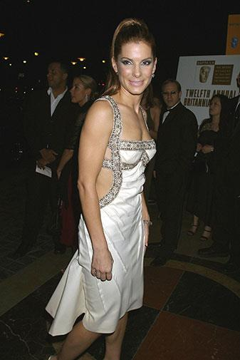 Showing some skin at the 2003 BAFTA awards.