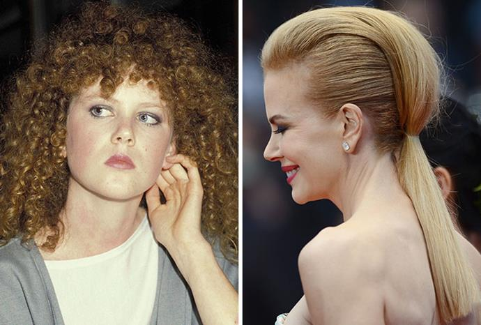 Some of Nicole Kidman's more memorable hairstyles.