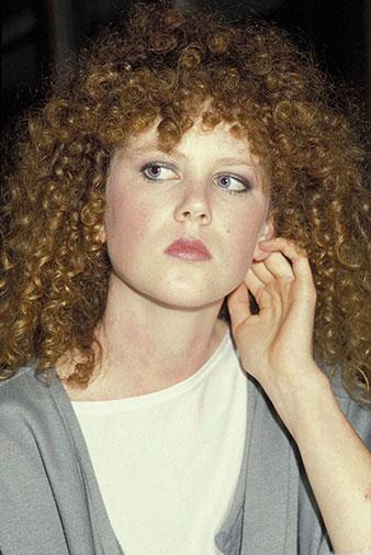 Nicole's famous red curly mop in 1983.