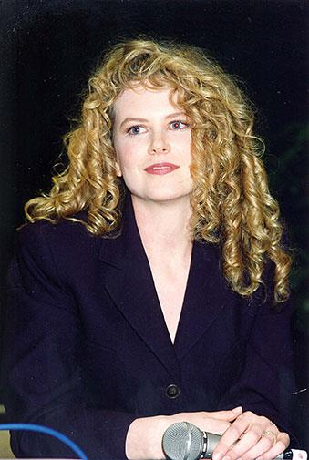 Big blonde barrel curls in 1992.