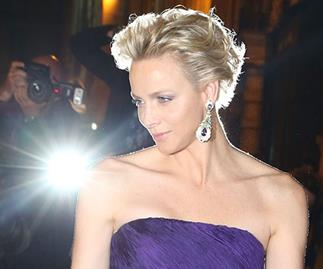 Princess Charlene wows in purple gown at Ralph Lauren event