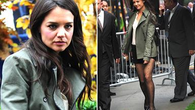 Katie Holmes going grey gracefully
