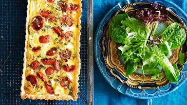 Roast tomato and goat's cheese tart
