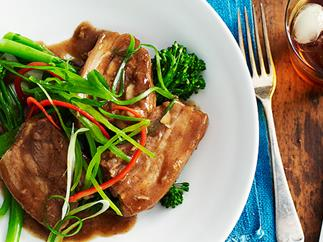 Chinese-style braised pork ribs