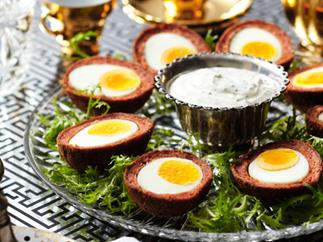 Scotch eggs with herb mayonnaise