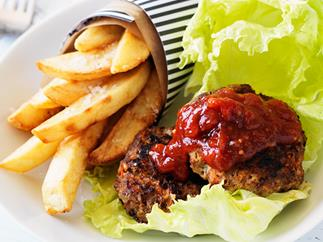 Rissoles with chips