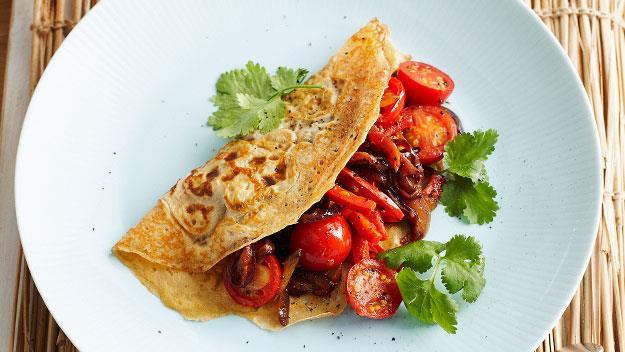 Spiced vegetable omelettes