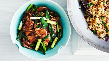 Pork, plum and ginger fried rice