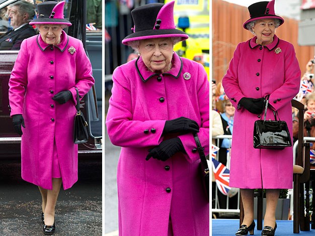 The Queen in May 2012, earlier this month, and June 2012.