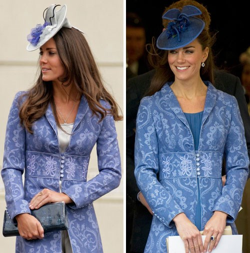 Kate first wore this coat in 2009, and again in 2011.