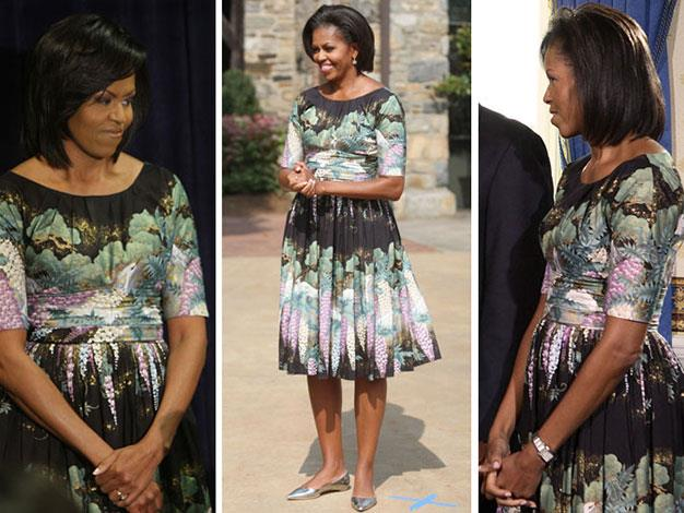 Michelle Obama loves this dress so much, she has worn it five times.