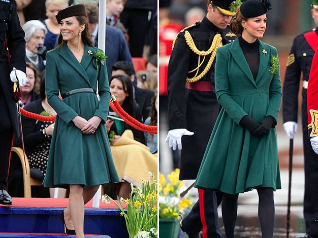 Kate at St Patrick's Day celebrations in 2012 and 2013.