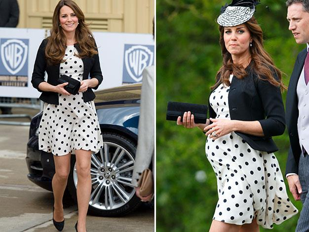 Kate wore this spotty number twice last year.