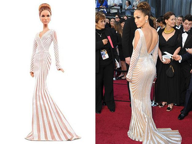 The new Jennifer Lopez Barbie, and the real thing.