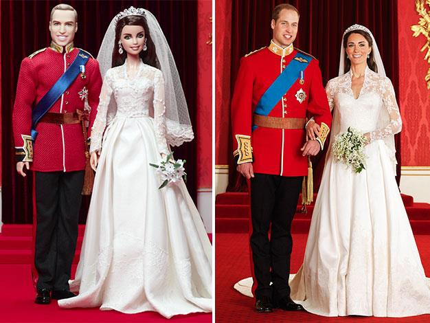 William and Kate on their wedding day.