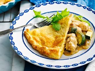 Green Curry Chicken Pie