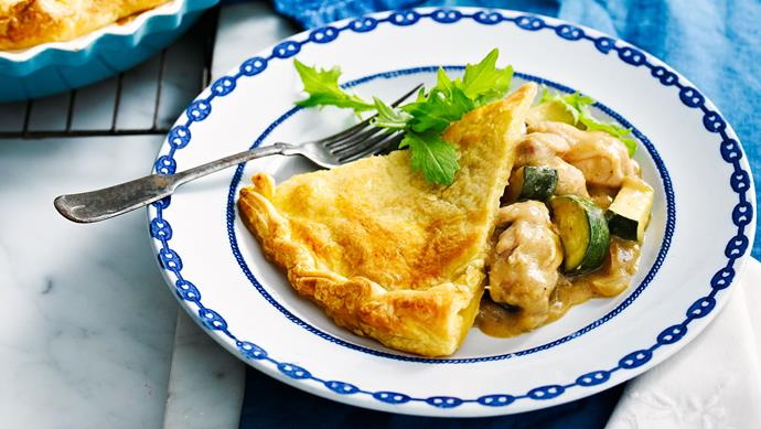"**[Green curry chicken pie](https://www.womensweeklyfood.com.au/recipes/green-curry-chicken-pie-23977|target=""_blank"")**  Green chicken curry goes exceptionally well with a golden, crispy pastry lid."