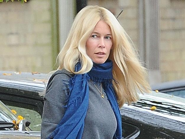Claudia Schiffer bare-faced in November 2013.