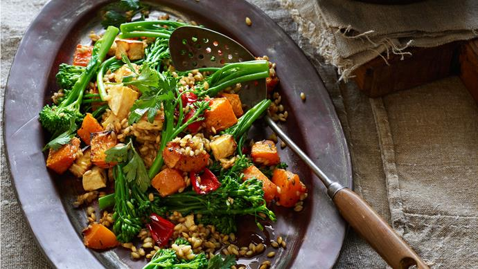 """**[Warm barley and vegetable salad](https://www.womensweeklyfood.com.au/recipes/warm-barley-and-vegetable-salad-23936
