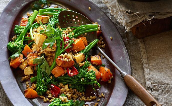 Warm Barley and Vegetable Salad