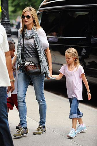 Heidi Klum with her daughter Leni.