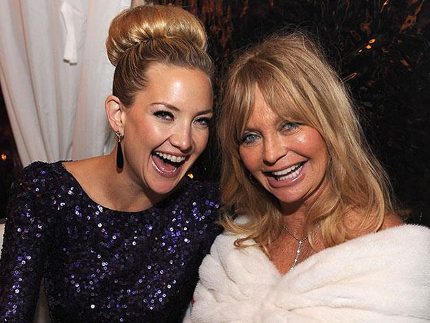 Kate Hudson and Goldie Hawn.