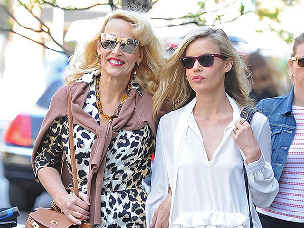 Jerry Hall and Georgia May Jagger.