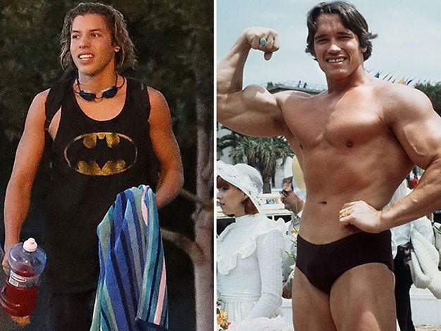 Arnold Schwarzenegger and his love child Joseph Baena.