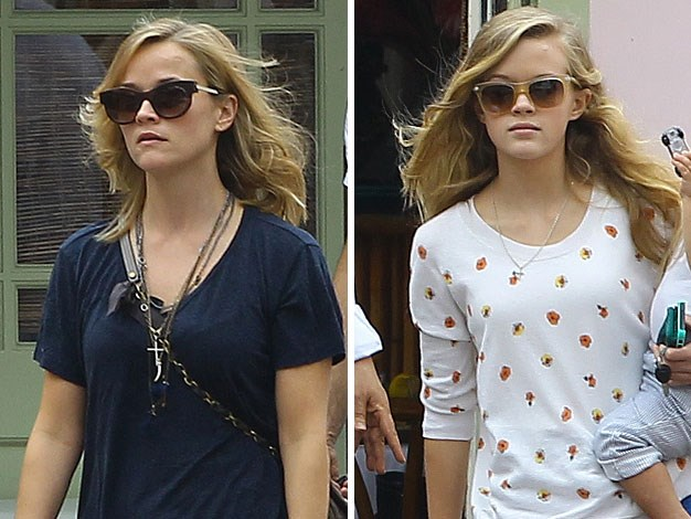 Reese Witherspoon and her mini-me daughter Ava, 14.