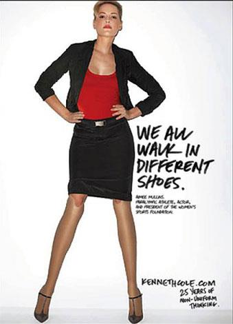 Double amputee Aimee Mullins is a L'Oreal spokesmodel.