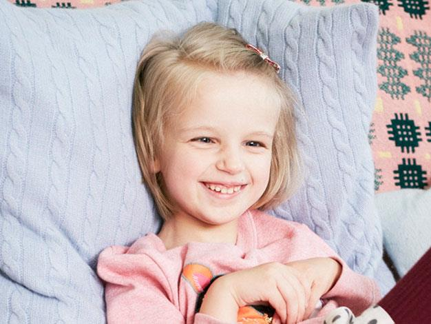 Holly Greenhow, 7, has cerebral palsy and is a model for Mini Boden.