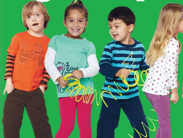 Six-year-old Ryan Langston (far left) has Down syndrome and models for US Target.