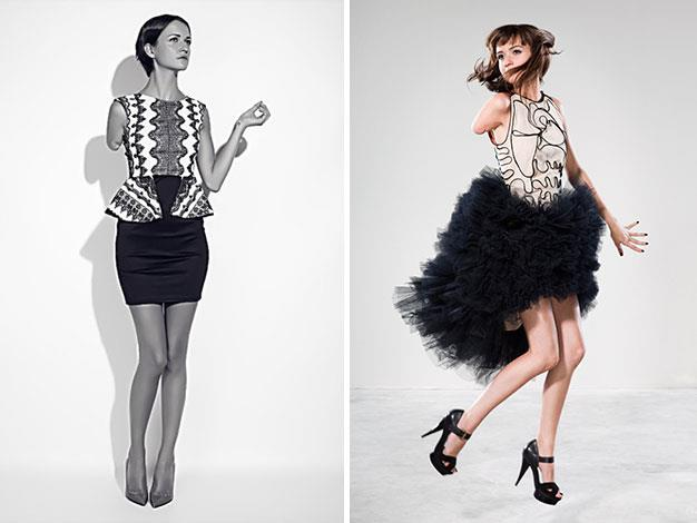 Debbie van der Putten, who has one arm, is having success as a high fashion model.
