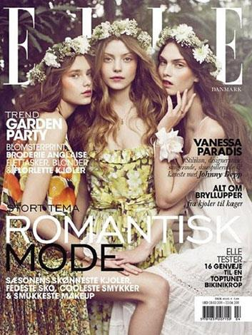 The model on the right of this Elle cover has a scarily stretched neck.