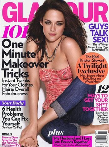 Glamour appears to have removed part of Kristen Stewart's arm in this shot.