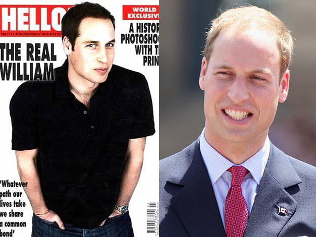 William has been made to look like a boy band member by Hello! magazine.