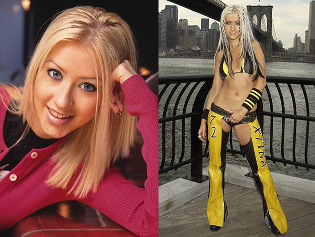 Fellow Mickey Mouse Club member Christina Aguilera transformed her wholesome image in 2002, becoming of the raunchiest stars in the industry.