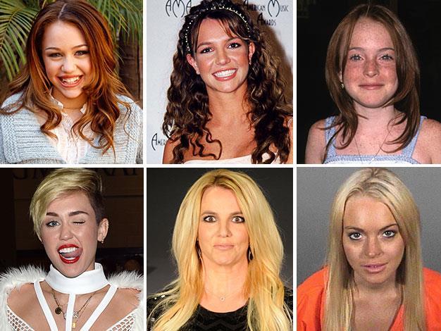 Disney girls Miley Cyrus, Britney Spears and Lindsay Lohan.
