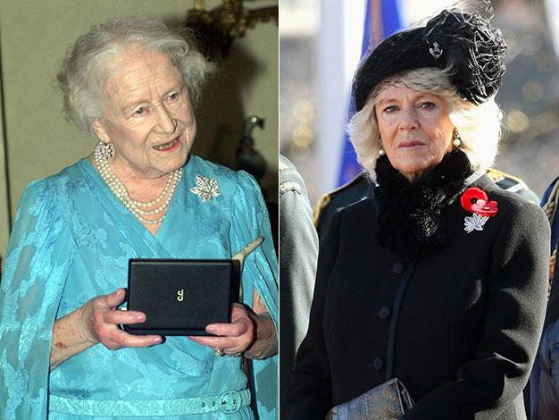 The brooch was also worn by the Queen Mother and Camilla on visits to Canada.