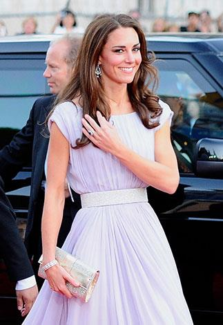 A pair of diamond earrings Kate wore to the BAFTA awards in 2011 were lent to her by the Queen.