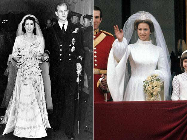 """Queen Elizabeth II wore her mother's tiara on her wedding day as her """"something borrowed"""", and later passed it on to her daughter Anne."""