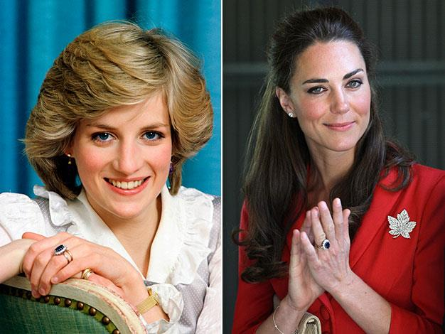 Prince William chose to keep his mother's sapphire engagement ring after her death and gave it to then Kate Middleton when he proposed in 2010.