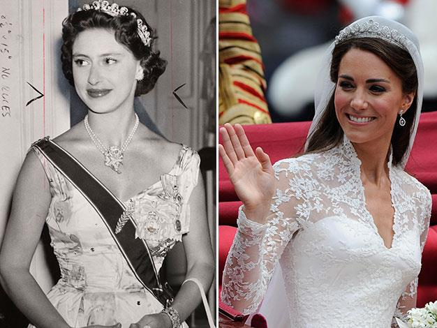 Princess Margaret borrowed her tiara from the Queen on her coronation day in 1954. It was also lent to the Duchess of Cambridge for her 2011 wedding.