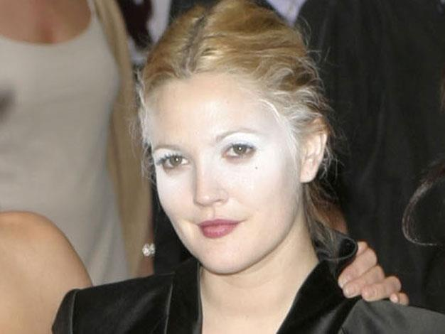 Drew Barrymore rocked some unusual makeup in July 2003.
