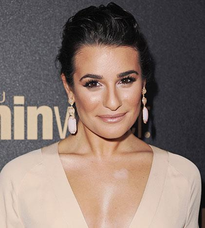 Lea Michele didn't blend her chest concealer in November 2012.